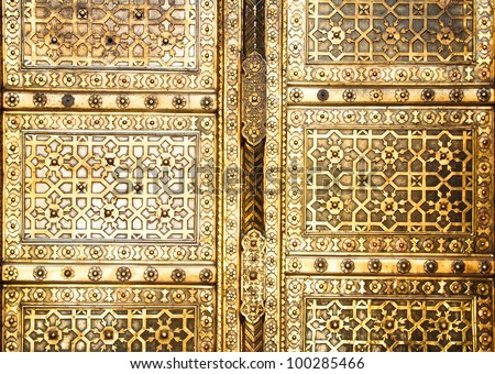 golden door closeup
