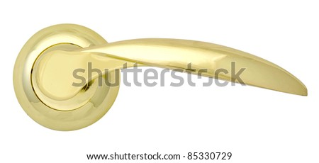 Golden Door handle Gloss isolated on white