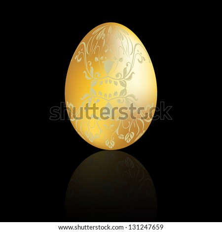 Golden Easter egg with swirl #131247659