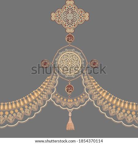 Golden elements in baroque,rococo style,Vintage baroque ornament