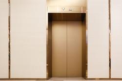Golden elevators in commercial buildings