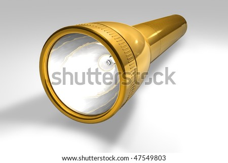 Golden flashlight