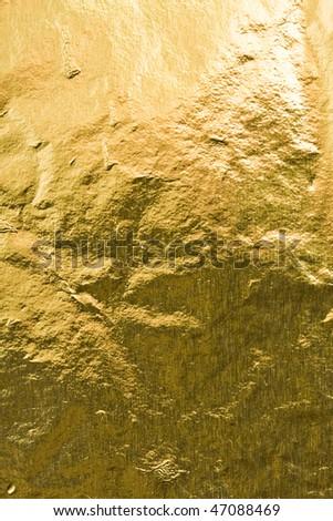 Golden foil abstract texture