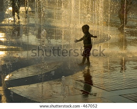 Golden fountain