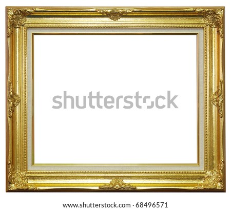 Golden frame empty