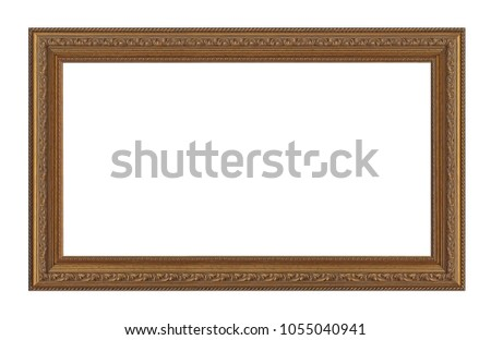 Golden frame for paintings, mirrors or photos #1055040941
