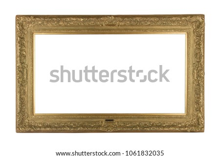 Golden frame isolated #1061832035