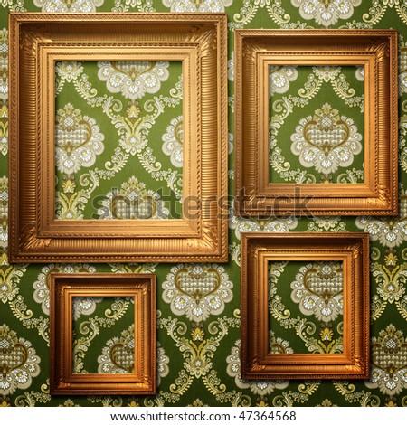Golden Frame Wallpaper Golden Frames on Vintage