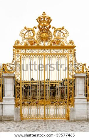 GOLDEN GATE AT VERSAILLES PALACE - stock photo