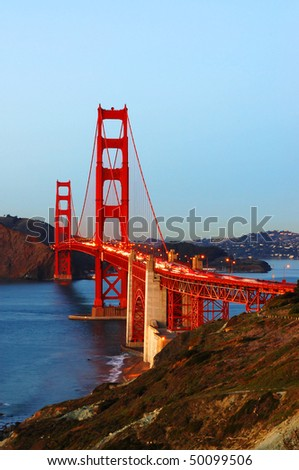golden gate bridge. stock photo : Golden Gate