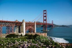 Golden Gate bridge and San Francisco Bay