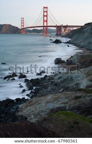 Golden Gate Bridge at dawn - San Francisco