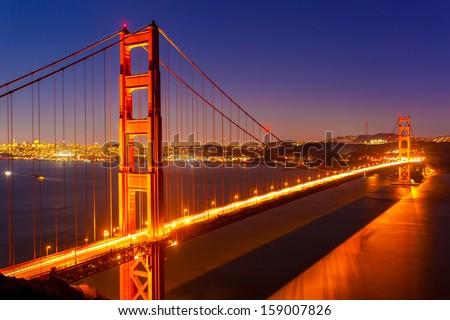 Golden Gate Bridge at night #159007826