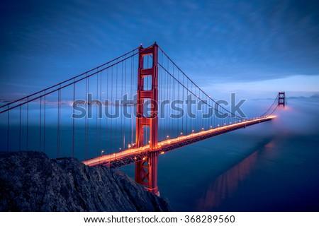 Golden Gate Bridge during Night, San Francisco #368289560