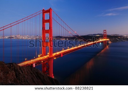 Golden Gate Bridge Dusk