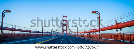 golden gate bridge early morning in san francisco california #686920669