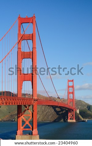 Golden Gate Bridge from Fort Point - Vertical (portrait) orientation