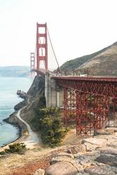 Golden Gate Bridge from viewpoint, San Francisco