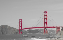 Golden gate bridge in San Francisco bay, San Francisco, California, USA