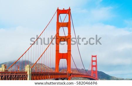 Golden Gate bridge in San Francisco, California #582046696