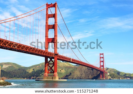 stock photo golden gate bridge in san francisco california usa 115271248 - Каталог — Фотообои «Мосты»
