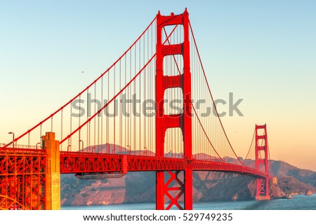 Golden Gate Bridge in San Francisco, California, USA. #529749235