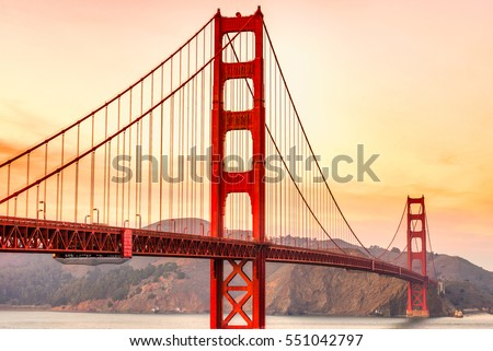 Golden Gate Bridge in San Francisco, California, USA. #551042797