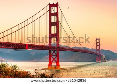 Golden Gate Bridge in San Francisco, California, USA. #551042836