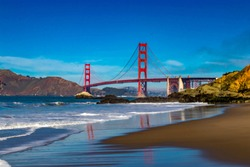 Golden Gate Bridge in San Francisco from Baker Beach
