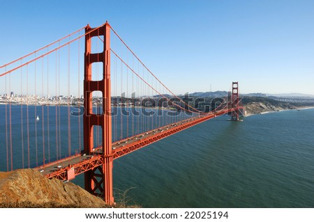 Golden Gate Bridge in San Francisco on a sunny afternoon