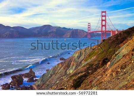 Golden Gate Bridge Landscape in San Francisco, California.