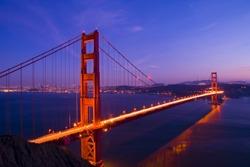 Golden Gate bridge long shutter speed long exposure