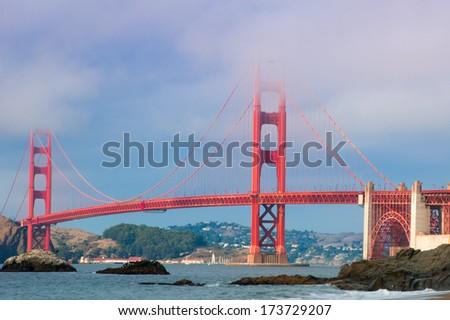 Golden Gate Bridge over the San Francisco Bay, San Francisco, California, USA #173729207