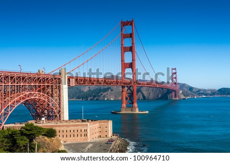 Golden Gate Bridge San Francisco - stock photo