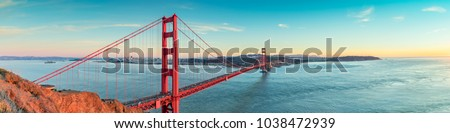 Golden Gate bridge, San Francisco California  - Shutterstock ID 1038472939