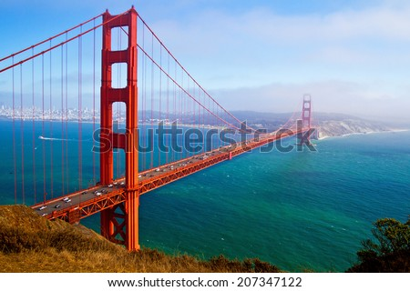 Golden Gate Bridge, San Francisco, California, USA. - Shutterstock ID 207347122