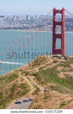 Golden Gate Bridge seen from Marin Headlands
