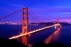 Golden Gate Bridge Twilight,San Francisco