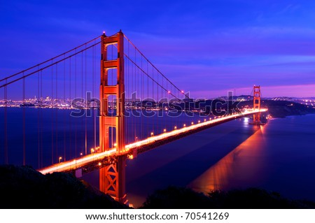Golden Gate Bridge Twilight,San Francisco