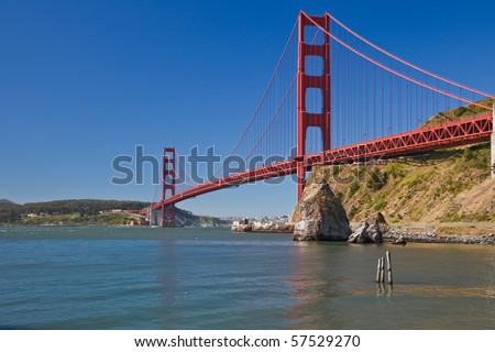 Golden Gate Bridge. View of the Golden Gate Bridge in San Francisco, CA, USA.