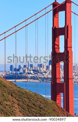 Golden Gate Bridge View on San Francisco, California
