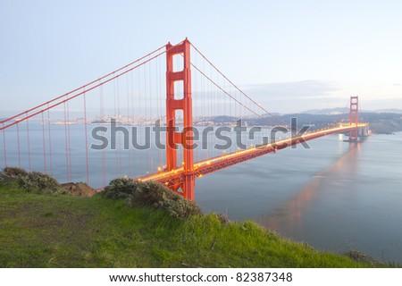 Golden Gate bridge with clear sky. San Francisco, USA.