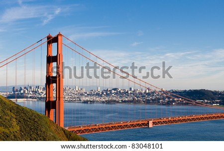 Golden Gate Bridge with San Francisco skyline in the background