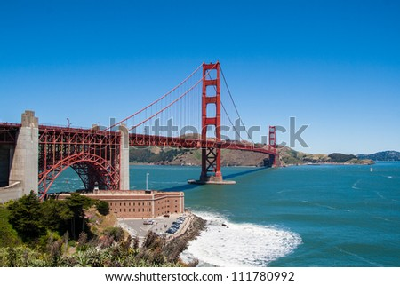 Golden Gate daylight view. San Francisco, California. USA