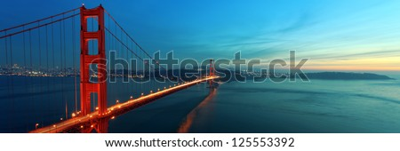 Stock Photo Golden Gate panorama