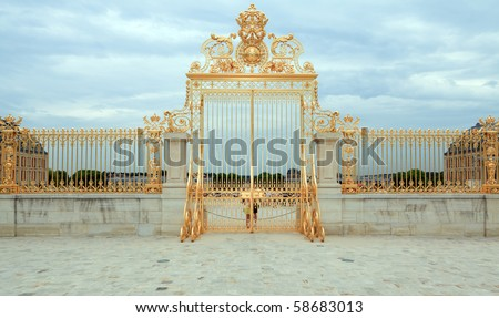 Golden Gates of Versailles Golden Gates of The Palace of