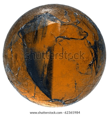 golden glass sphere (isolated)