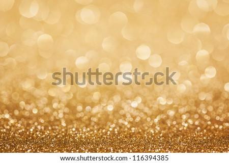 Golden Glitter Christmas Abstract Background