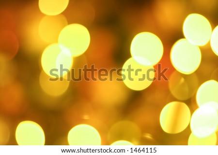 Golden glow light blur