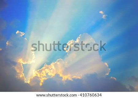 Golden heaven light Hope concept abstract blurred background from nature scene outdoor vacation trip and ramadan month